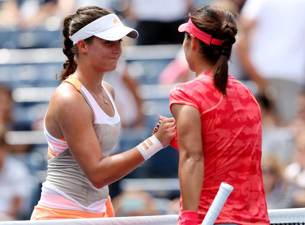 Laura Robson pictured after her defeat to Li Na