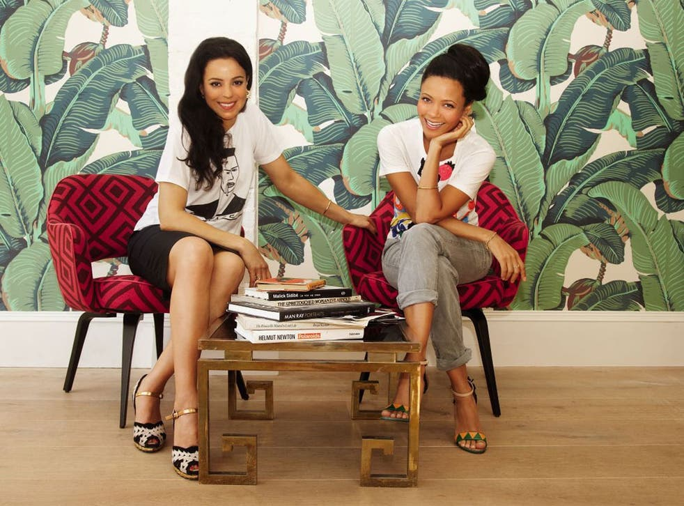 Women kind: Kay Montano, far left, and Thandie Newton hit it off from the  start. Now they share beauty ideas with others online