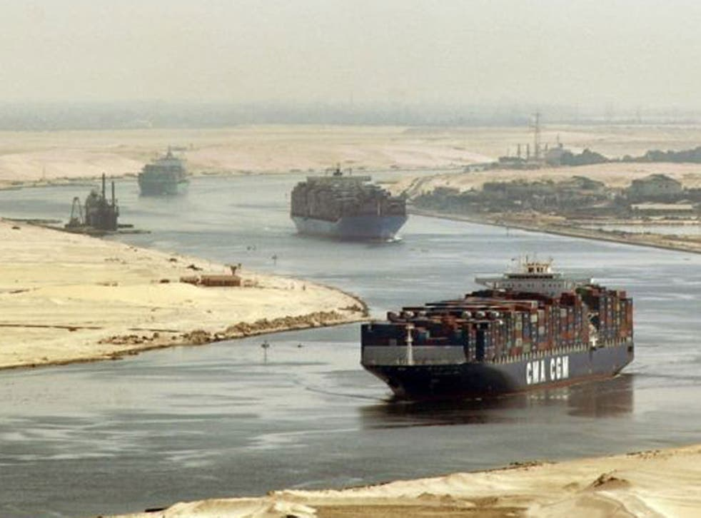 Egypt depends heavily on revenue from the Suez Canal