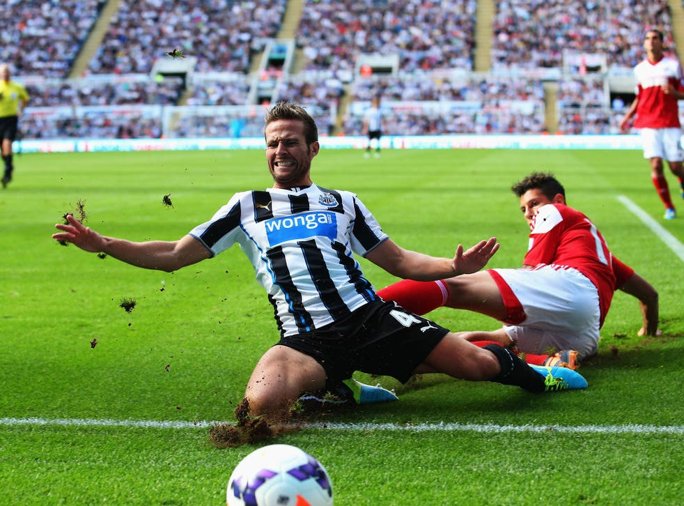 Yohan Cabaye was back in action for Newcastle