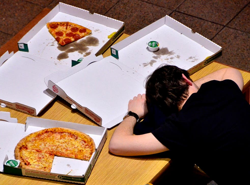 25 per cent of British students will indulge in a takeaway every week