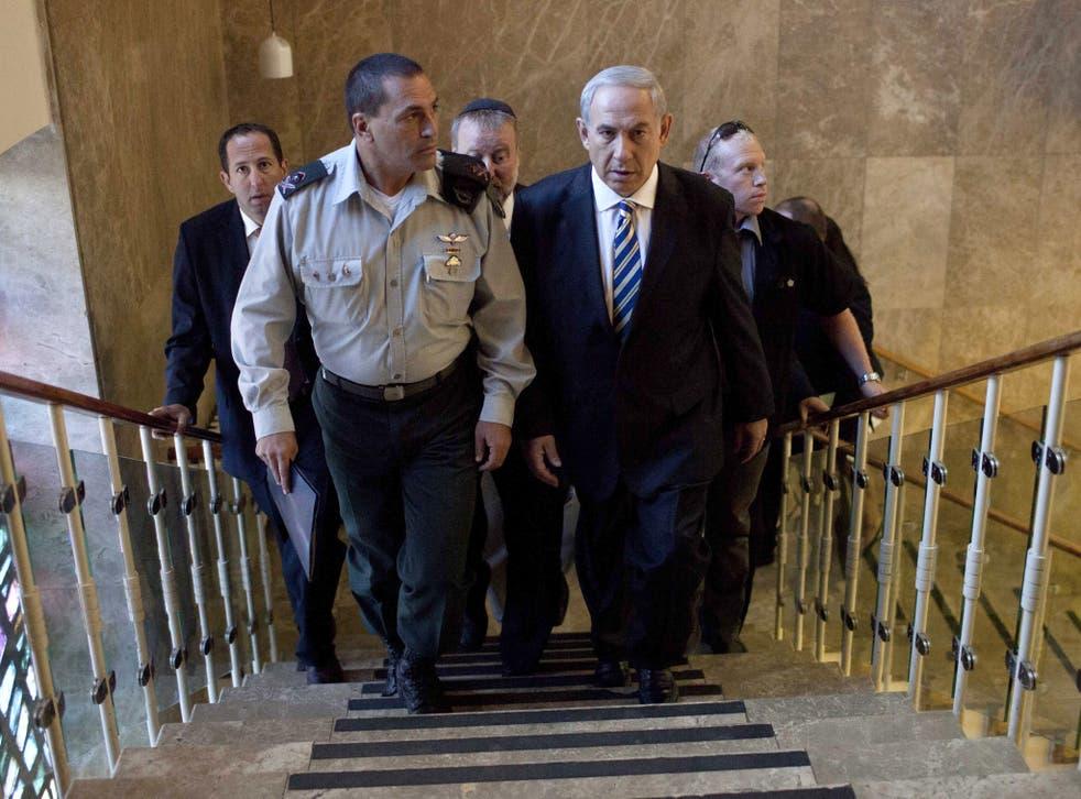 Israeli Prime Minister Benjamin Netanyahu attends the weekly cabinet meeting on September 1, 2013 in Jerusalem, Israel.