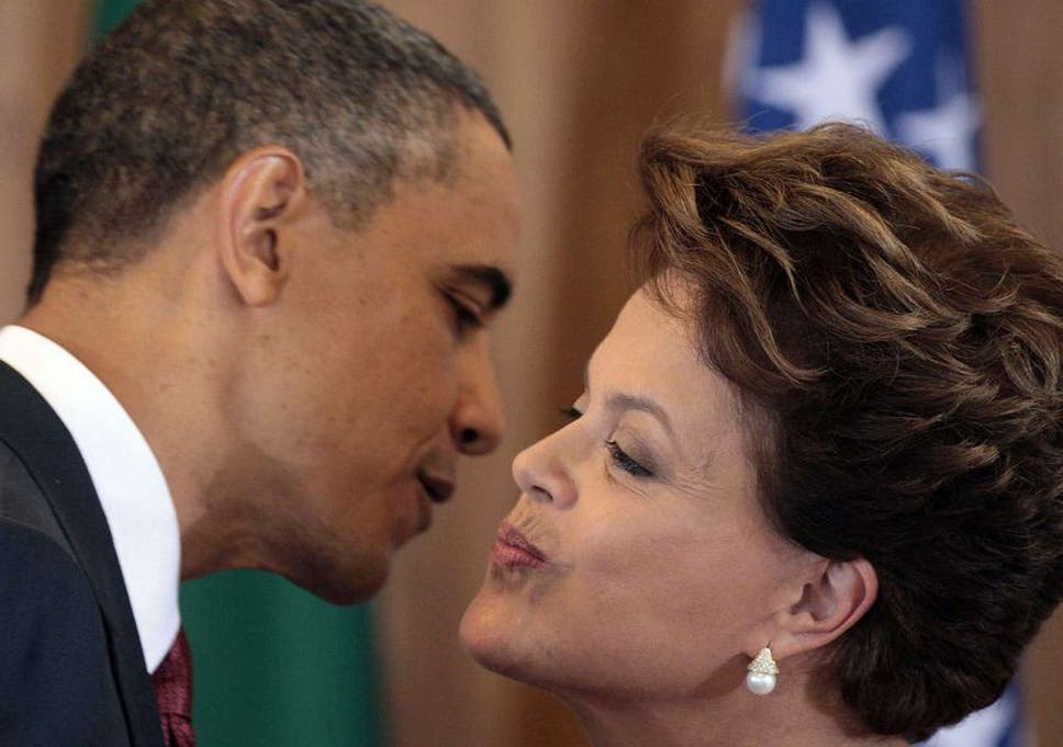Us pushed to explain allegations of nsa spying on brazilian us president barack obama and brazilian president dilma rousseff greet each other during a joint press m4hsunfo