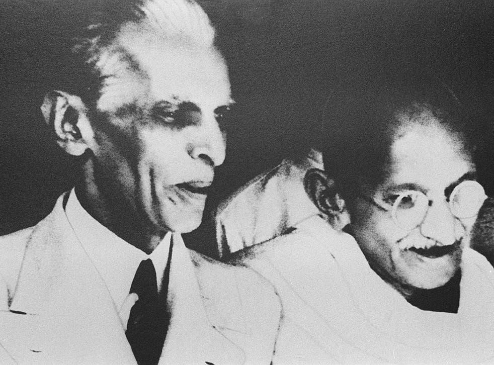 Jinnah with Mahatma Gandhi in Delhi in 1944