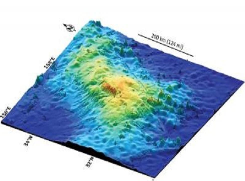 At a size equivalent to the state of New Mexico or British Isles, the underwater shield volcano known as Tamu Massif is the largest individual volcano ever documented on Earth, according to new research to be published in the journal Nature Geoscience.