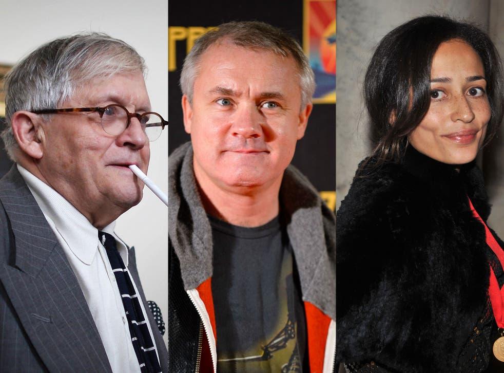 David Hockney, Damien Hirst and Zadie Smith, Idlers all
