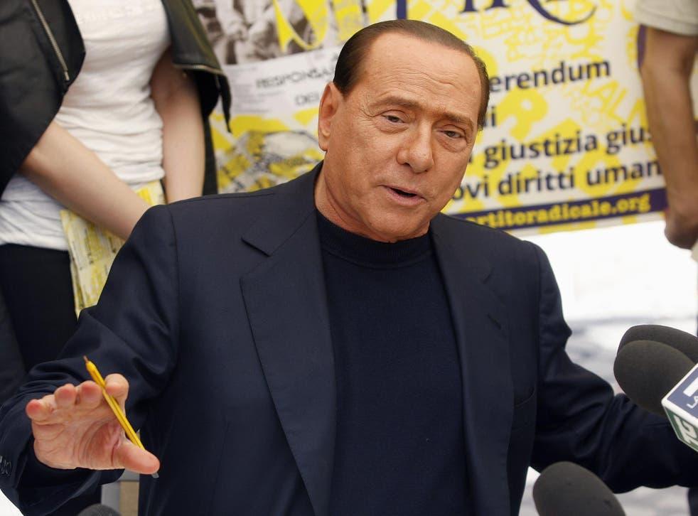 People of Liberty party (PDL) leader Silvio Berlusconi