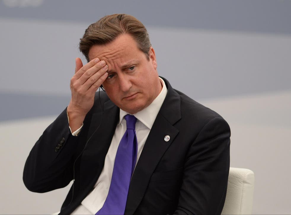 British Prime Minister David Cameron seems exasperated and irritated about Vladimir Putin's supposed snub