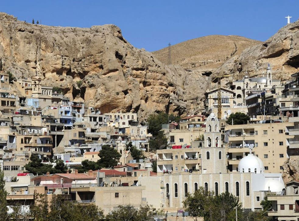 No refuge: The ancient town of Maloula, attacked last week by rebel fighters