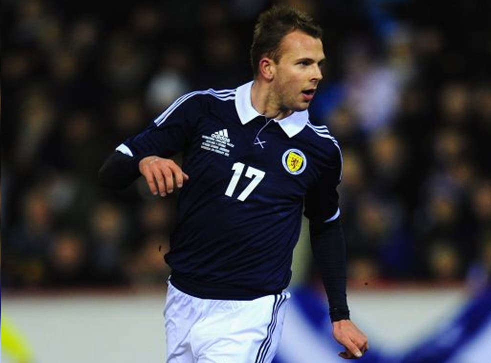 Full of hope: Rhodes saw promising signs in Scotland's defeat to Belgium