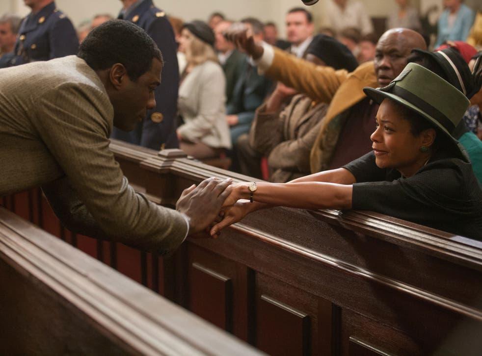 Idris Elba as a young Nelson Mandela and Naomie Harris as Winnie