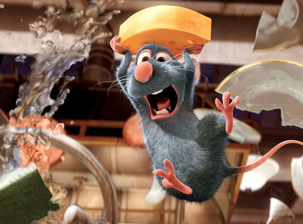 Rats entertainment: Remy in 'Ratatouille'