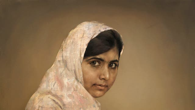 Girl Reading (Malala Yousafazi) by Jonathan Yeo is to go on show at the National Portrait Gallery