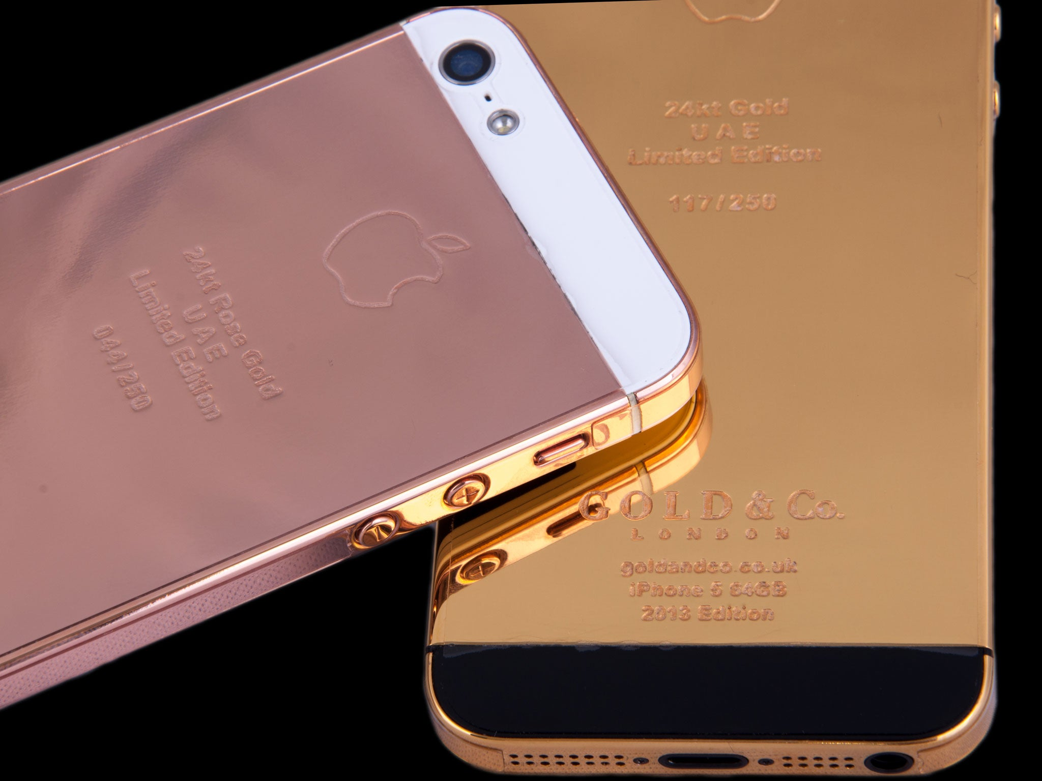 iphone 5s rose gold yours for up to 163 50 000 the real gold iphone 5s 4978