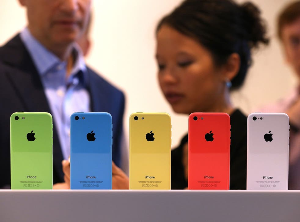 The iPhone 5C, which came in five different colours