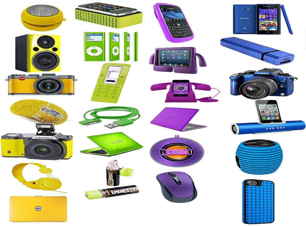 A rainbow of colourful gadgets now illuminate the tech shop shelves