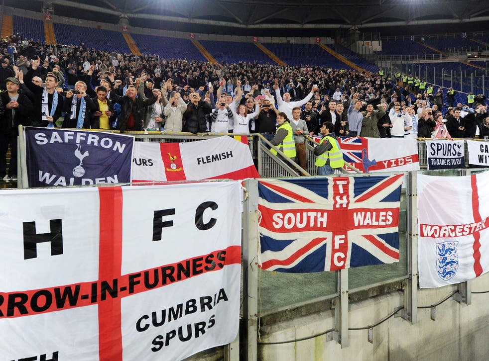 Tottenham fans in Lazio were on the end of racial abuse from areas of the home side's fans