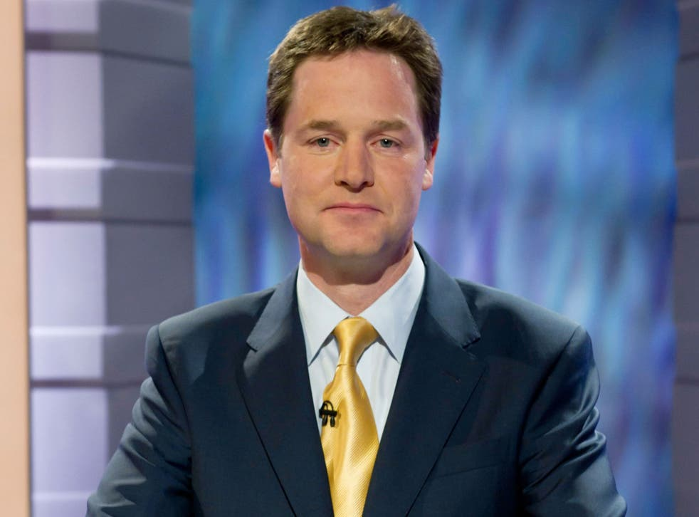 Deputy PM Nick Clegg, pictured here in the run-up to the 2010 Election, has been accused of betraying voters over Lib Dem support for fracking