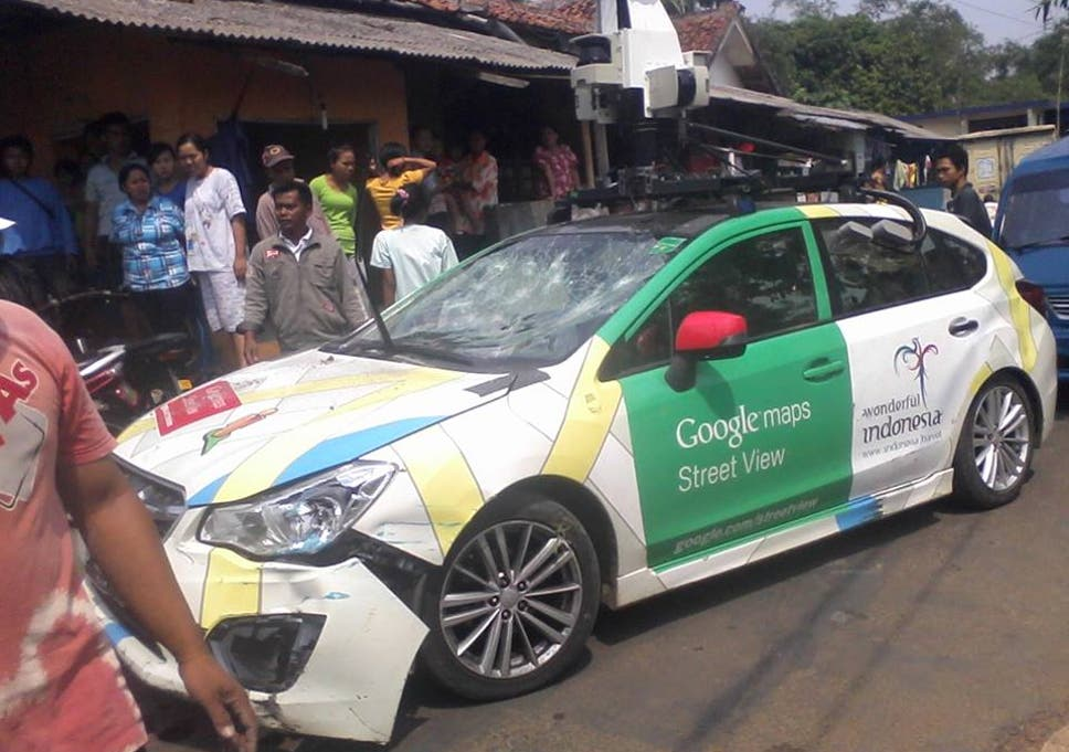 Keep Your Eyes On The Road Google Street View Car Crashes Into