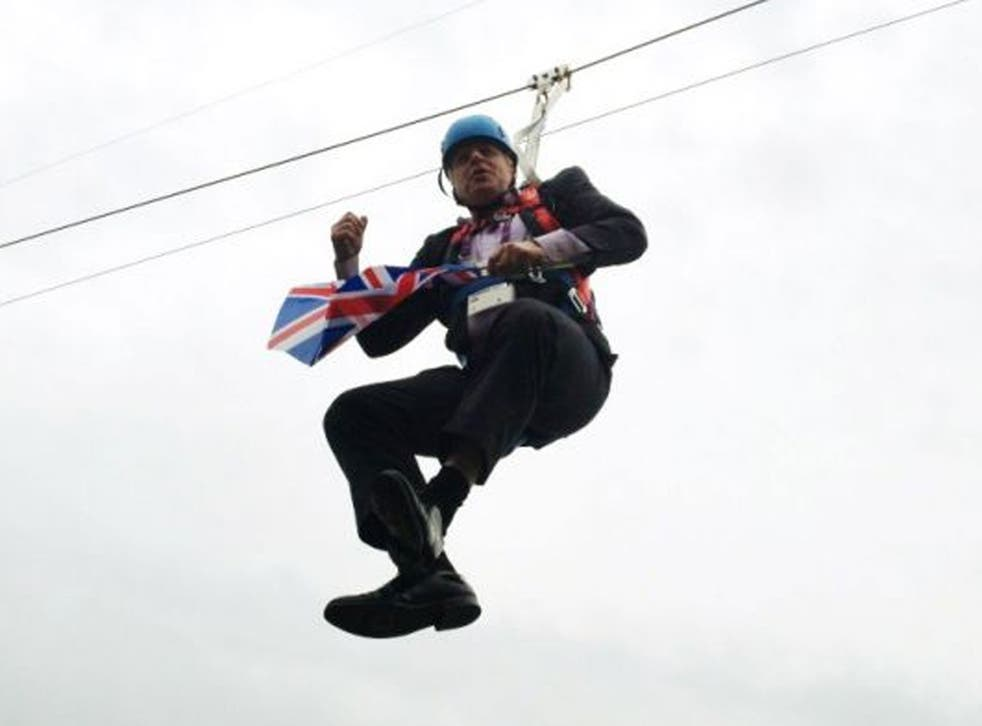 We couldn't get enough of Boris during the Olympics, with all the zip wires and the zoink