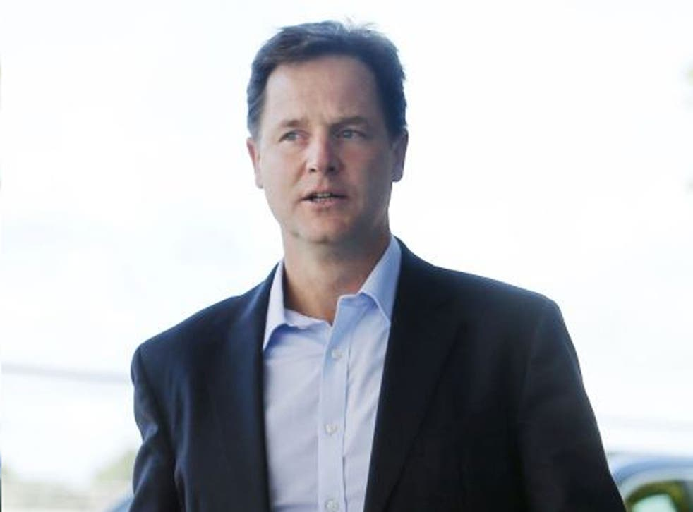 Out of step: Nick Clegg adheres to the Tories, but Lib Dem members veer to Ed Miliband's Labour