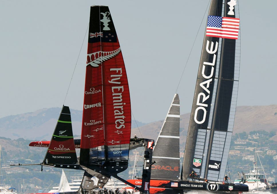 America's Cup: Emirates Team New Zealand in capsize scare as