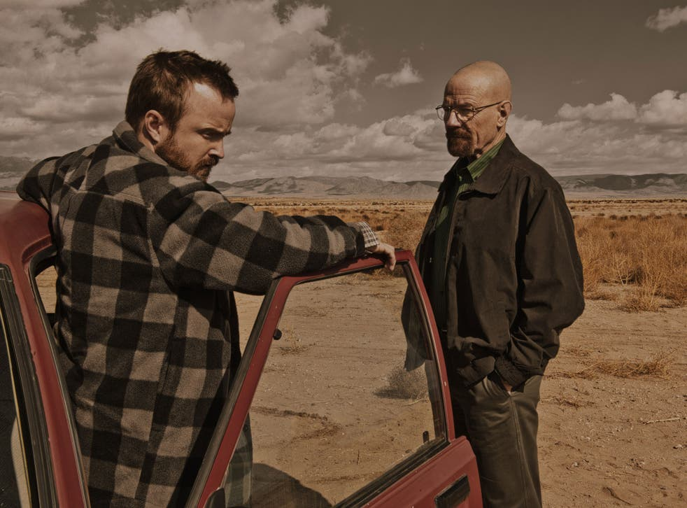 The calm before the storm: Aaron Paul (left) and Bryan Cranston in Breaking Bad