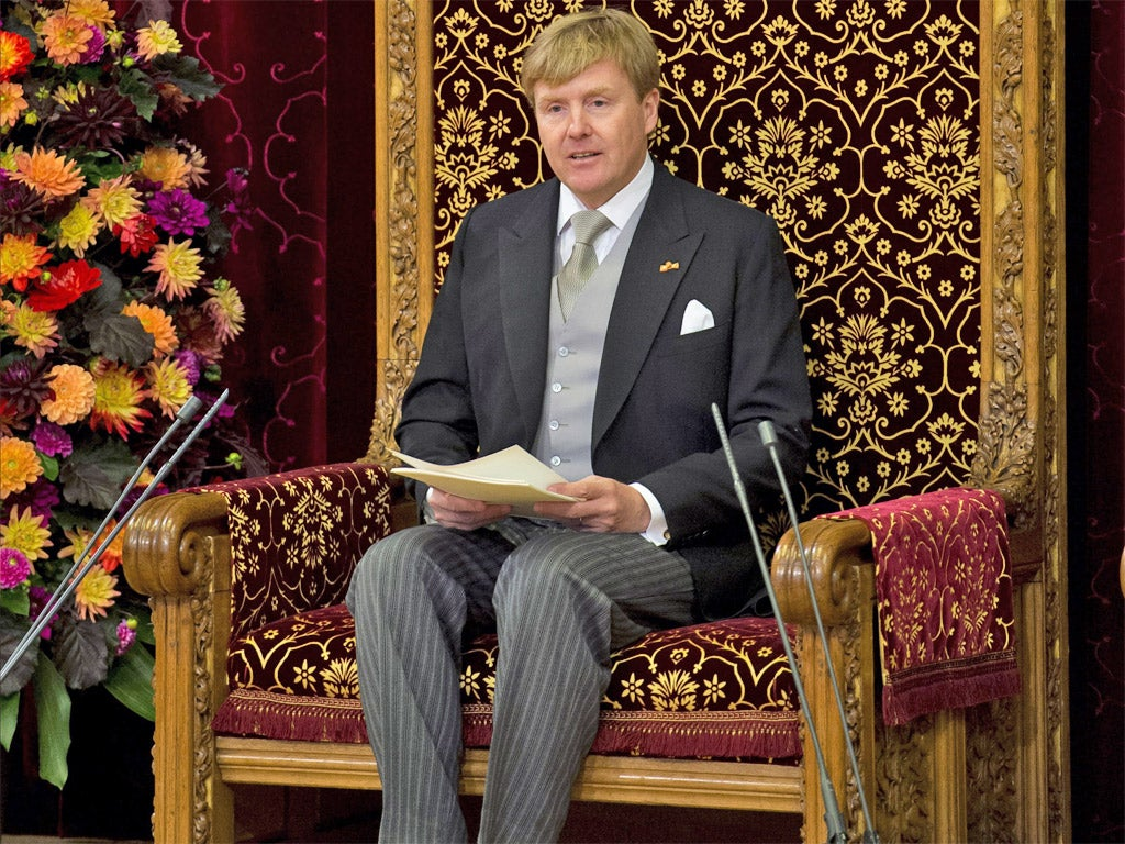 Dutch King Willem-Alexander declares the end of the welfare state