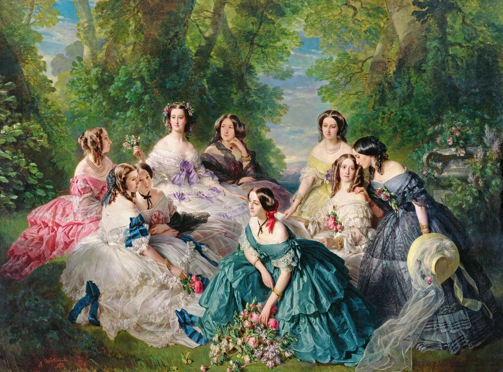 Empress Eugénie surrounded by her ladies in waiting, painted by Franz Xaver Winterhalter