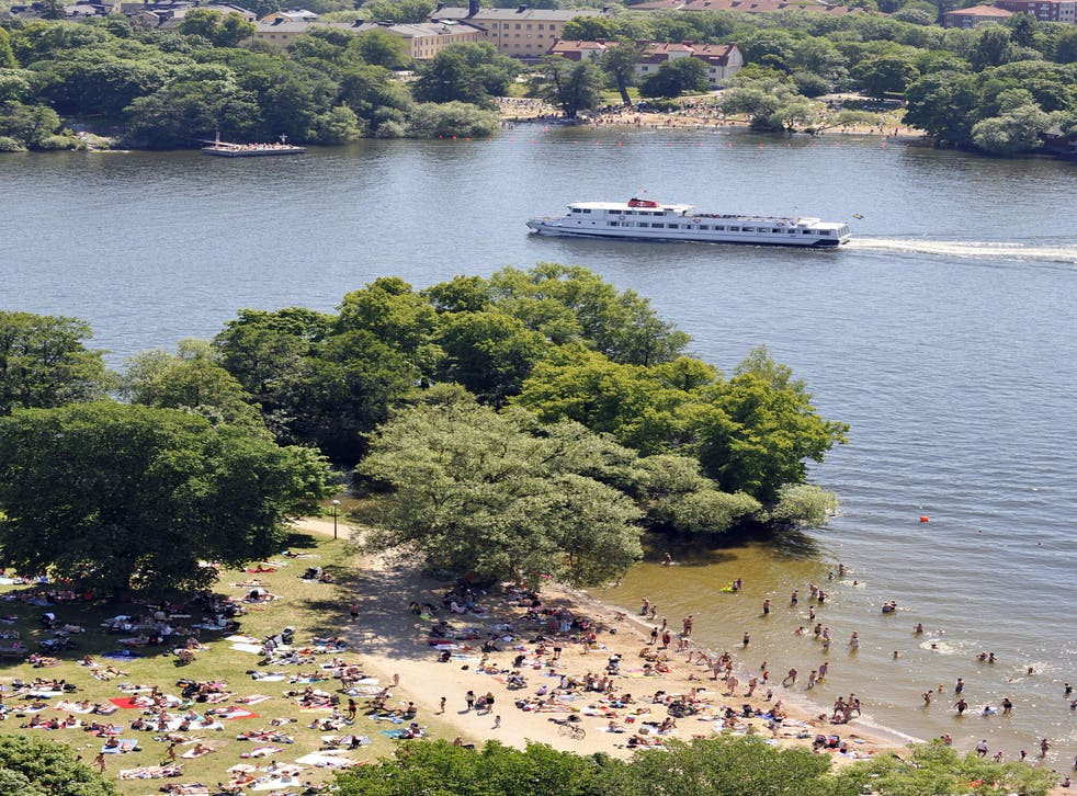 File photo of a beach in central Stockholm: Prosecutors have concluded that it is 'okay' to masturbate in public if it is not directed at anyone