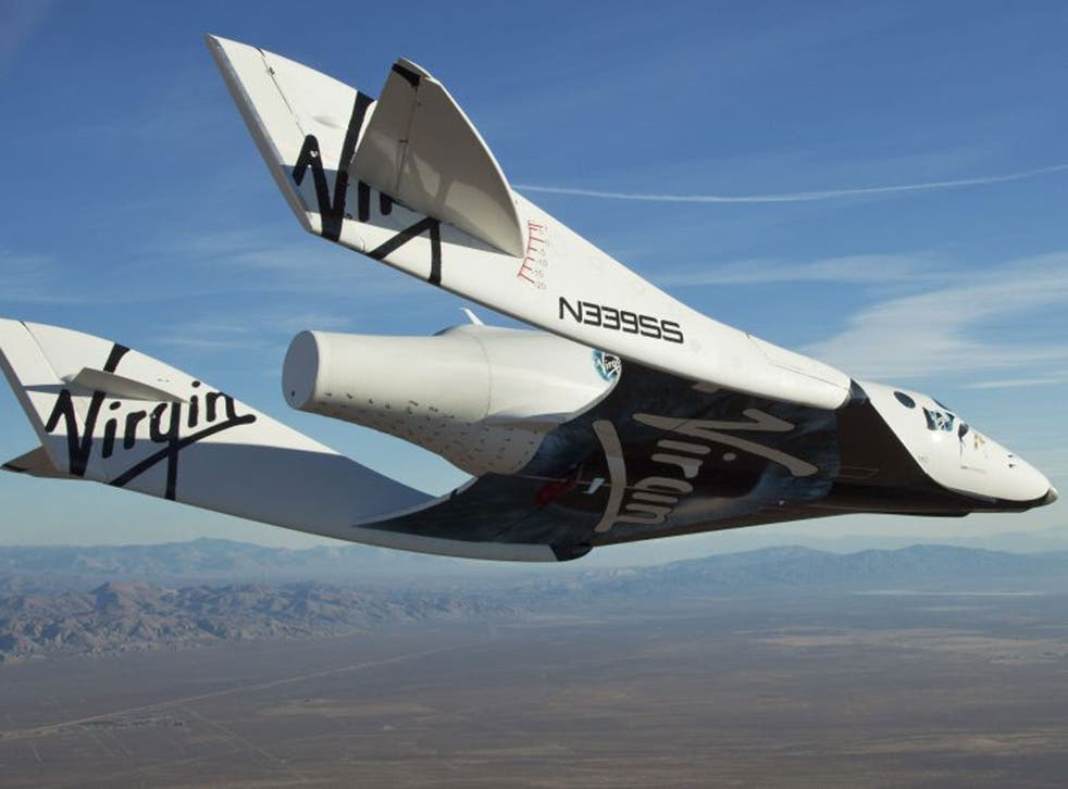 Virgin Galactic's SpaceShipTwo glides towards Earth after a test flight