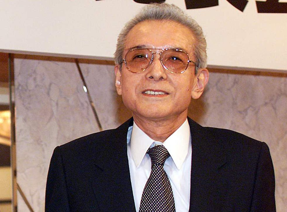 Hiroshi Yamauchi, President of Japan's video game giant Nintendo after they announced the joint project to develop the next generation machine of the Nintendo 64