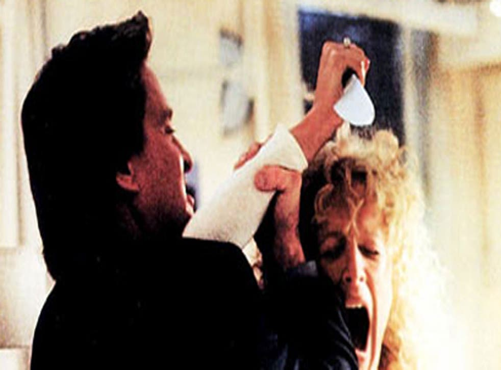 Michael Douglas and Glenn Close battle it out in Fatal Attraction