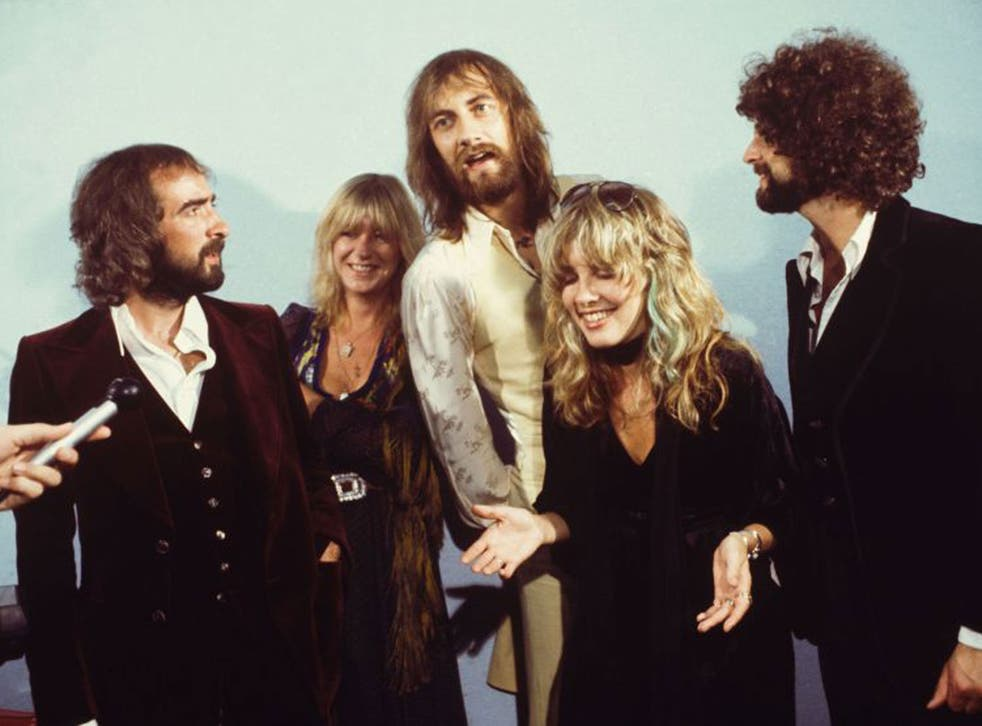 Fleetwood Mac taking part in a US interview broadcast in 1975