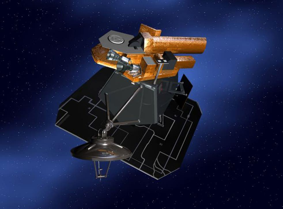 NASA artist's concept for Deep Impact, a comet research spacecraft