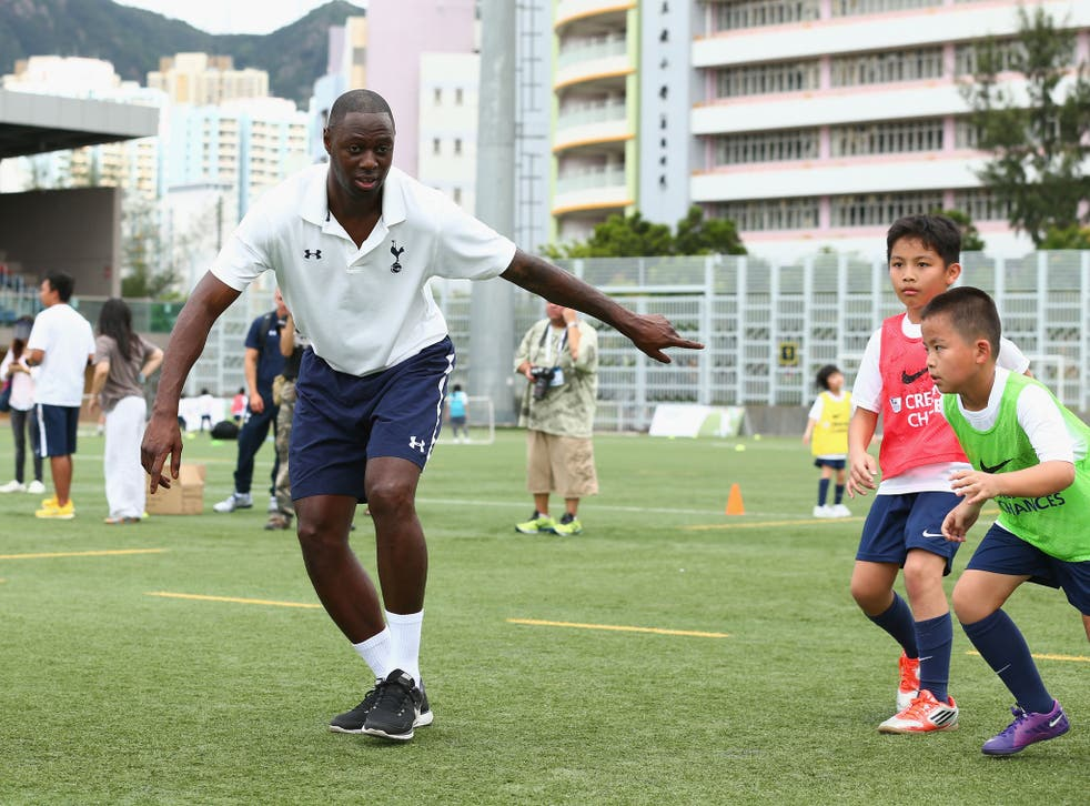King Kong: Ledley King coaches children in Hong Kong with the Premier Skills and Creating Chances charity in July