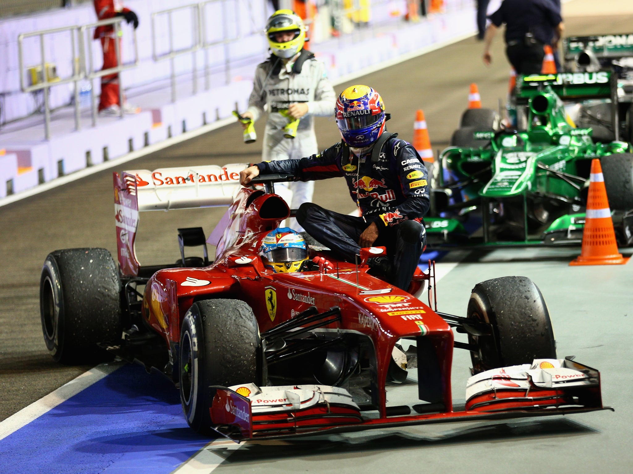 f1 mark webber labels punishment for taxi ride from