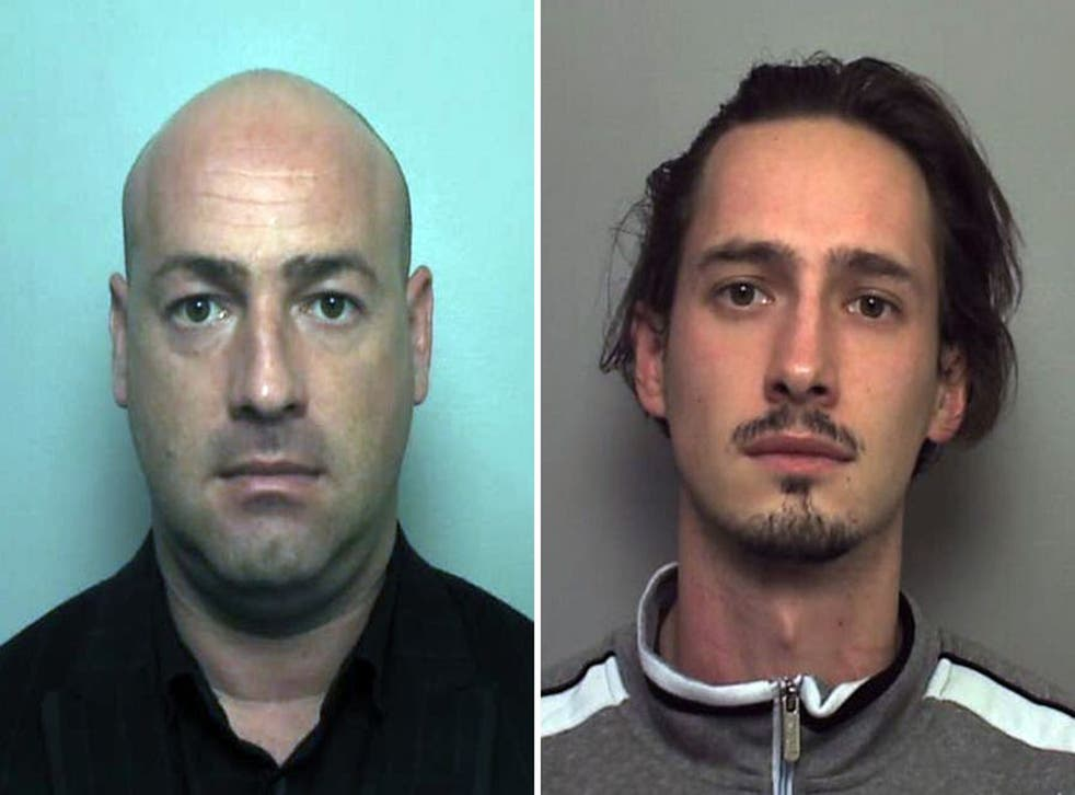 Undated handout photos issued by the Home Office of brothers Istvan Toth (left) and Peter Toth  as Home Office immigration enforcement crime investigators have issued an appeal for information about the Hungarian nationals, who are charged in connection w