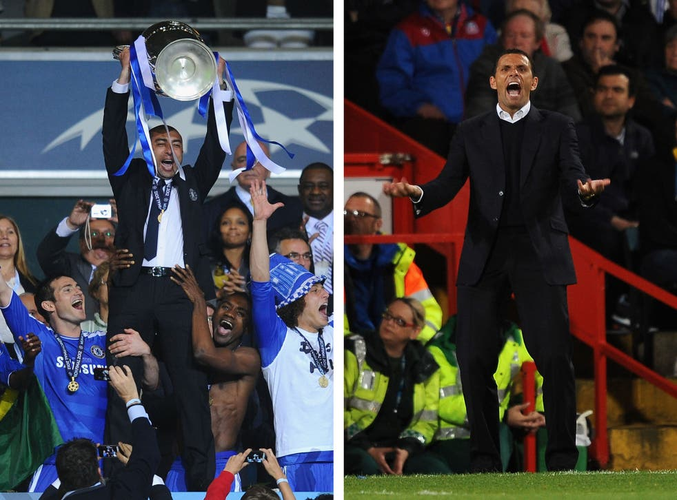 Former Chelsea duo Roberto Di Matteo (L) and Gus Poyet (R) are the front-runners to take over