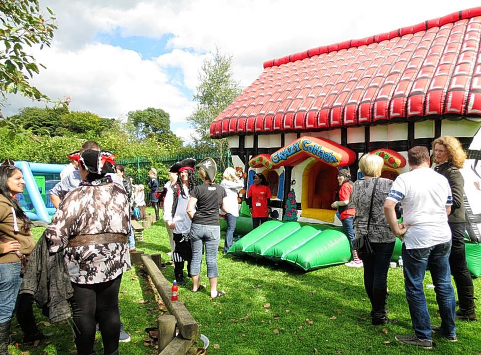 Party time: an adoption event in Bolton, Lancashire, earlier this month