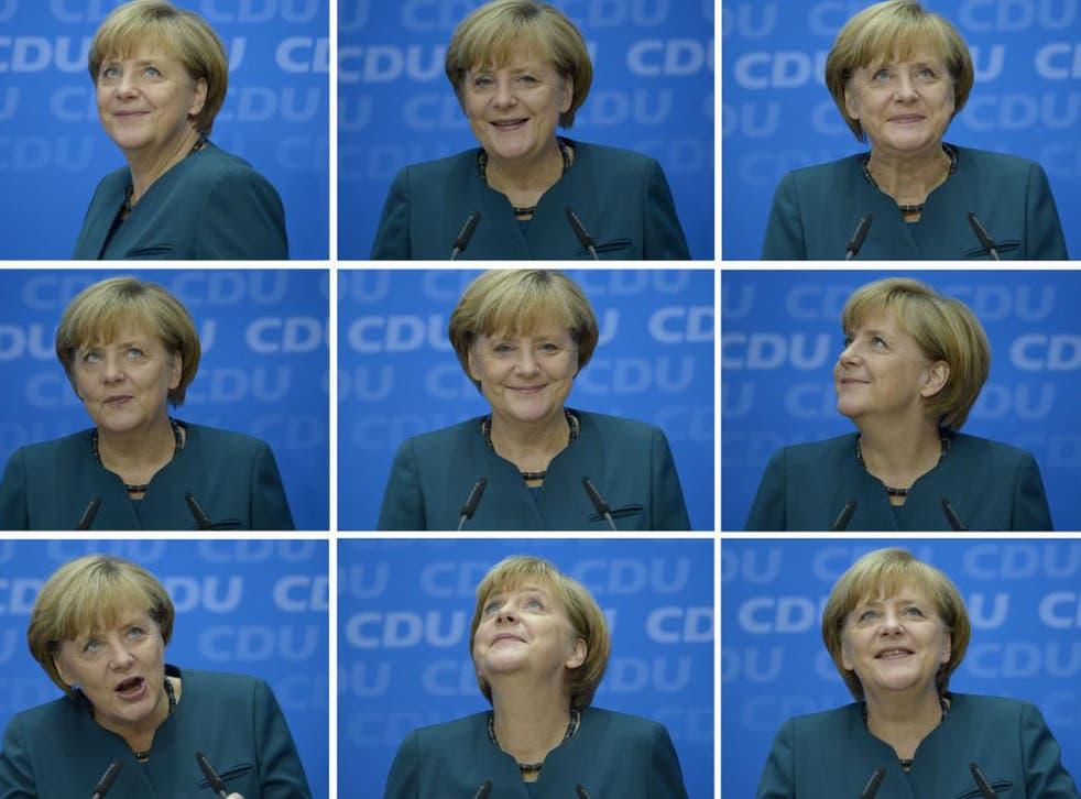 Angela Merkel celebrates victory