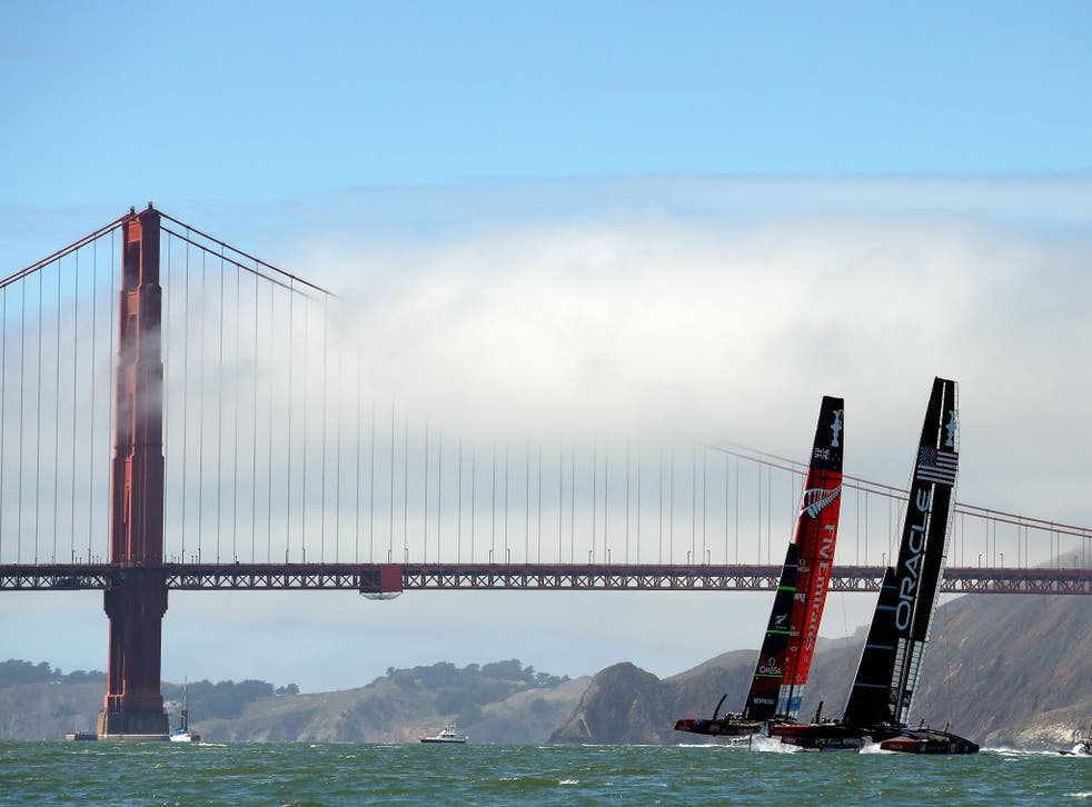 Oracle Team USA has closed the gap on the challenger, Emirates Team New Zealand but still trails 6-8