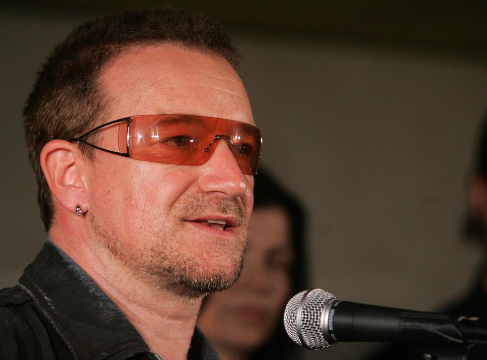 Bono was chased down the street at a G8 summit by protesters shouting 'Make Bono history'