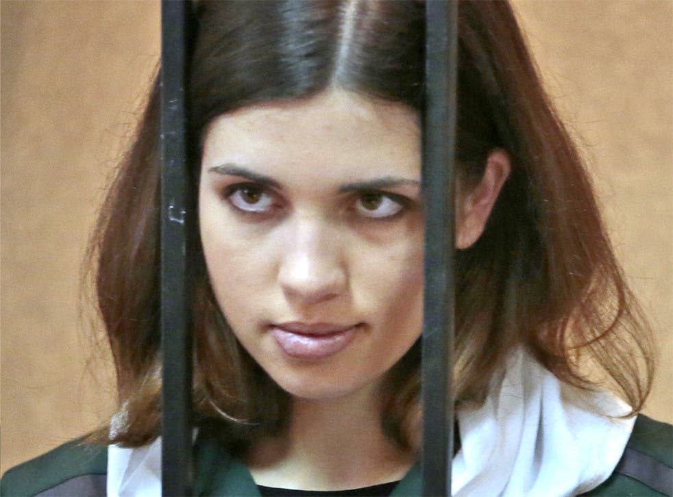 Nadezhda Tolokonnikova behind bars