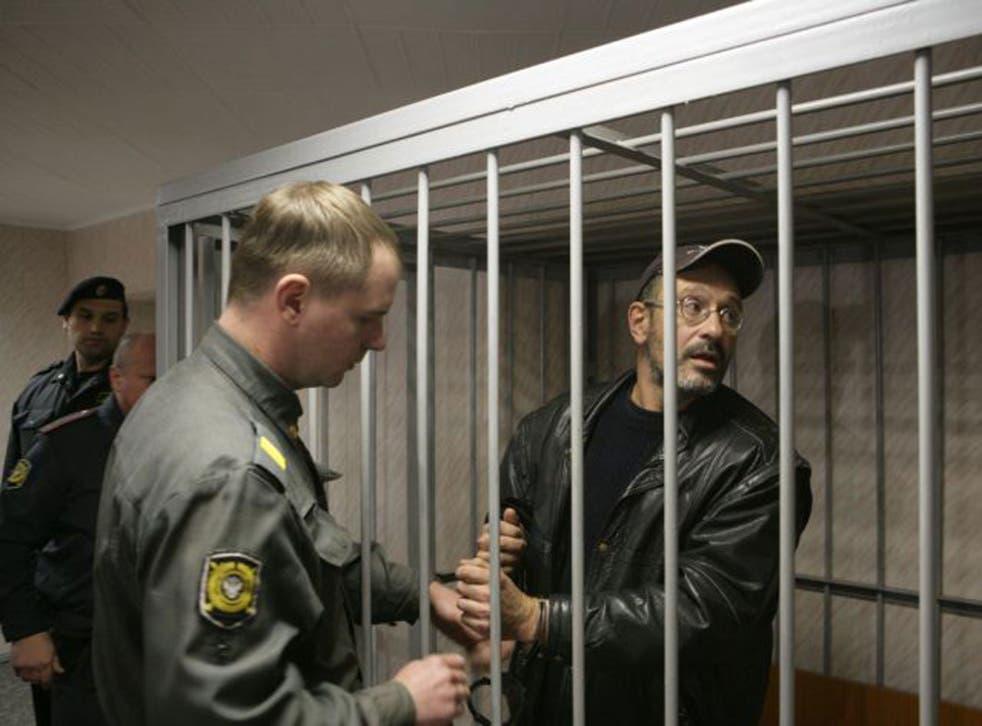 Greenpeace campaigner Dima Litvinov in court yesterday