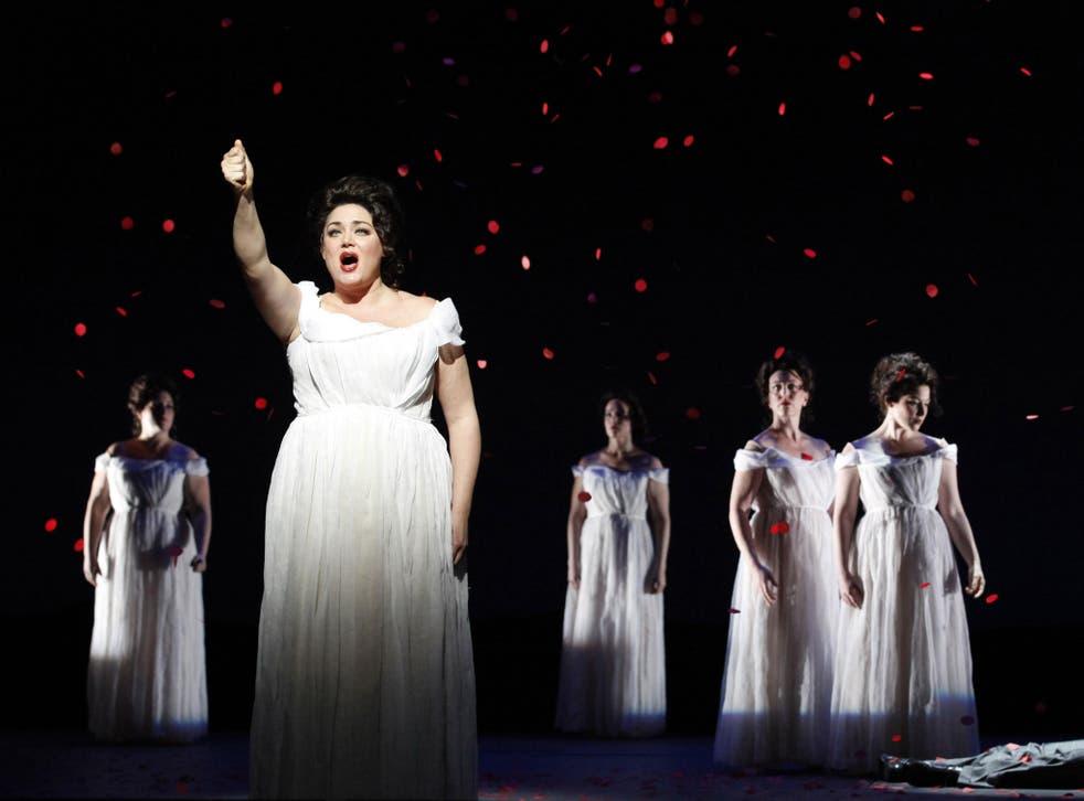 Kara Shay Thomson performs in New York City Opera's production of Schoenberg's 'Erwartung'