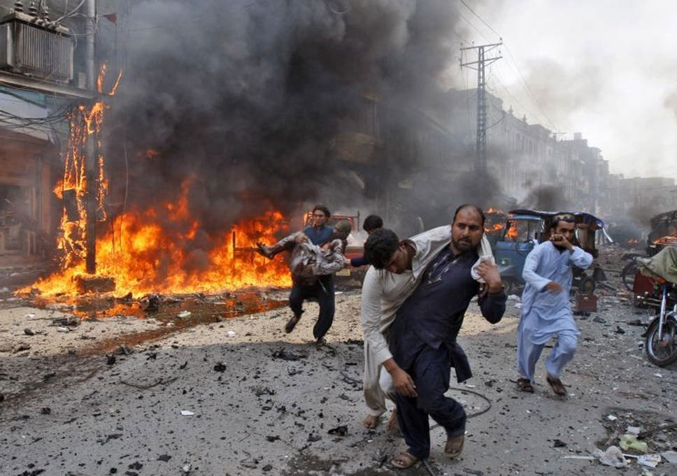 Image result for images of Pakistan market bomb blast