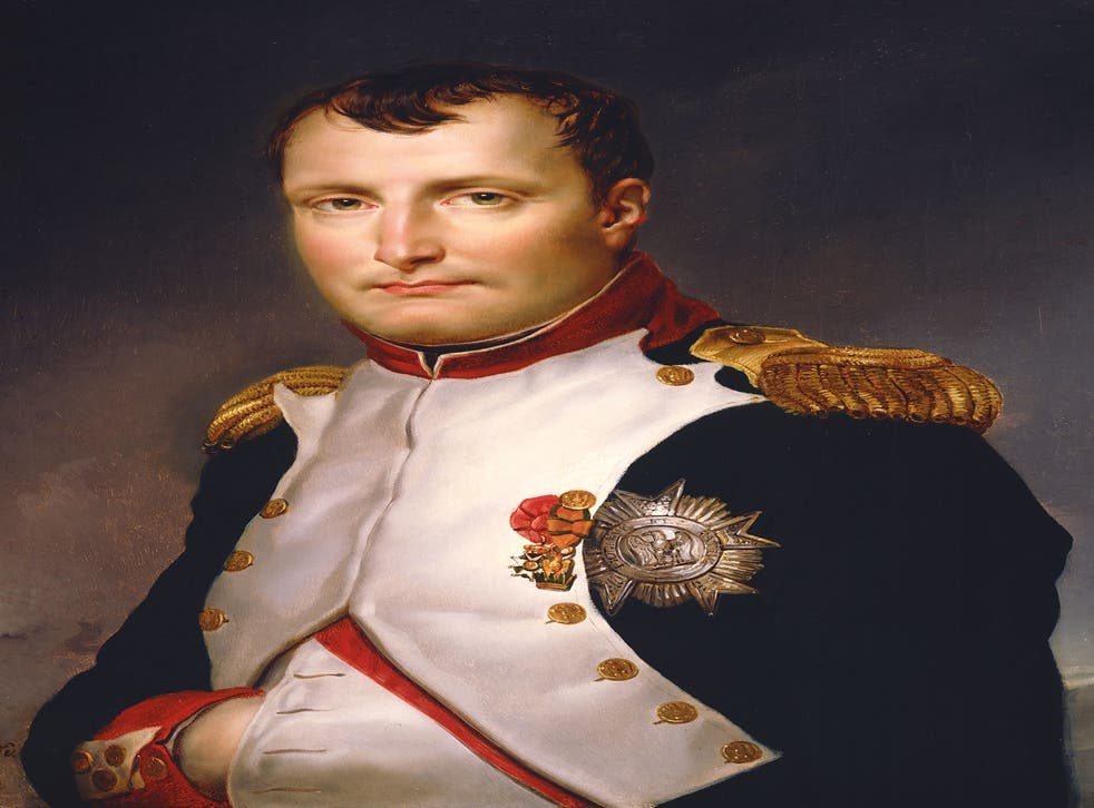 The work, by Jacques-Louis David, shows Napoleon in his National Guard uniform