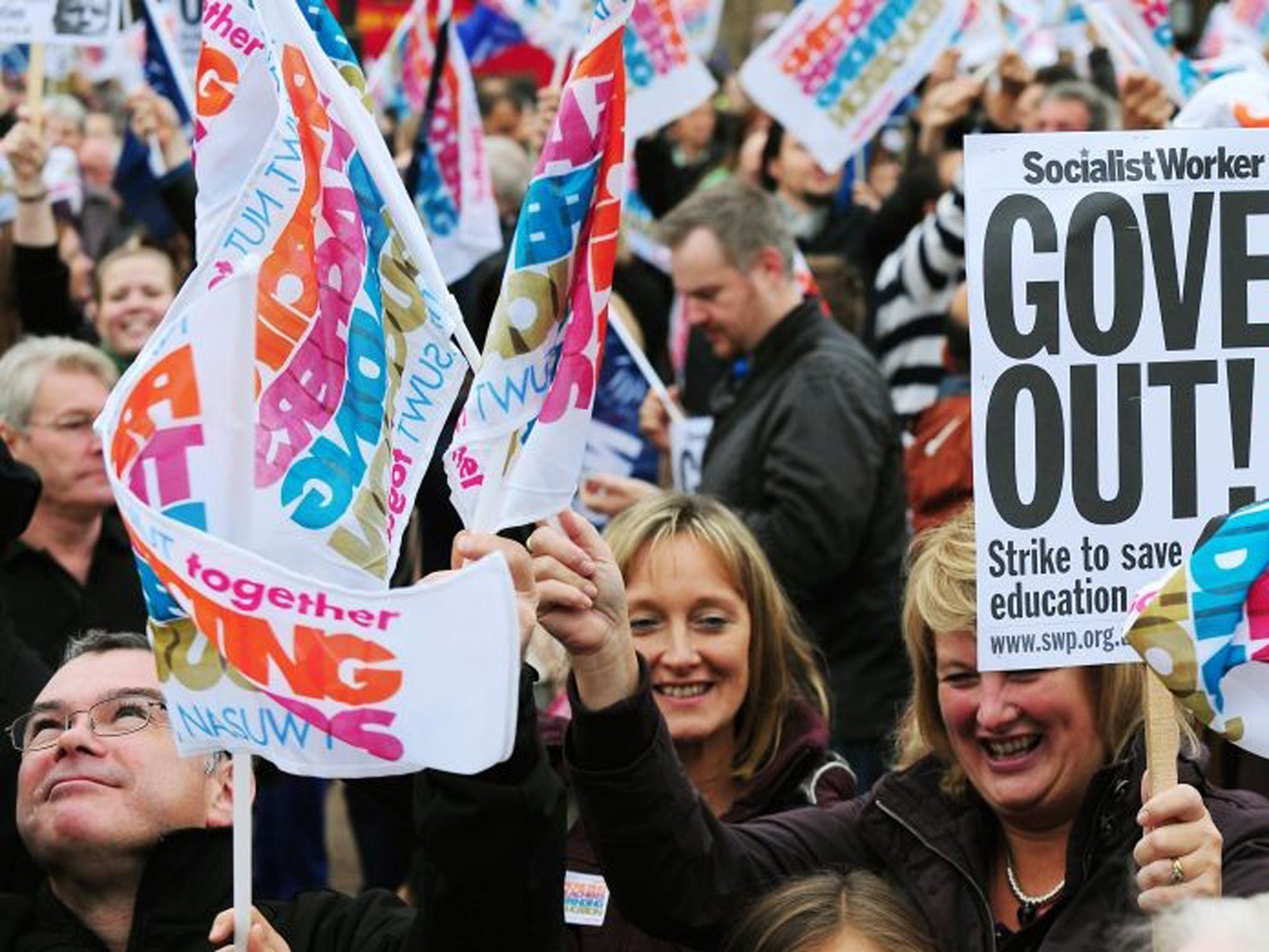 Thousands of schools shut as teachers strike over pay and pensions