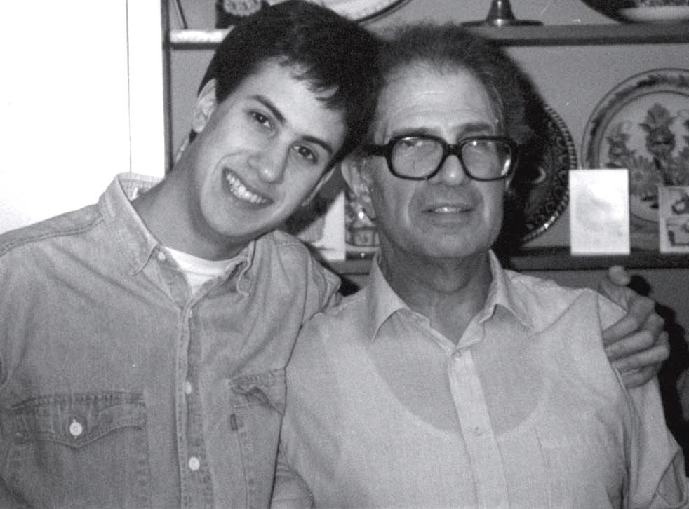 Ed Miliband with his father Ralph in 1989